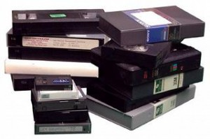 beaucoup de cassettes vidéo
